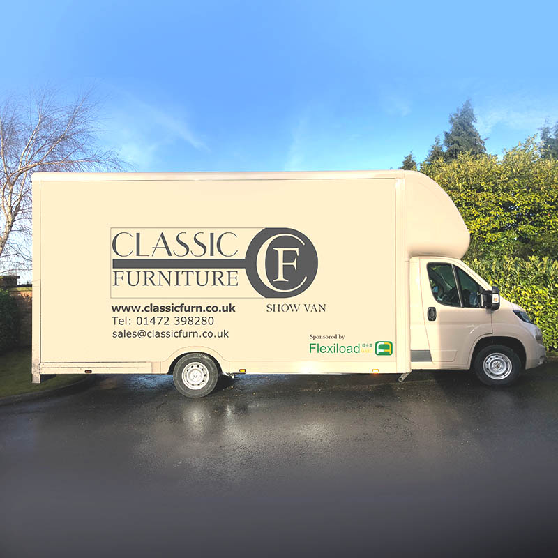 Classic Furniture & Flexiload Asia UK Show Van