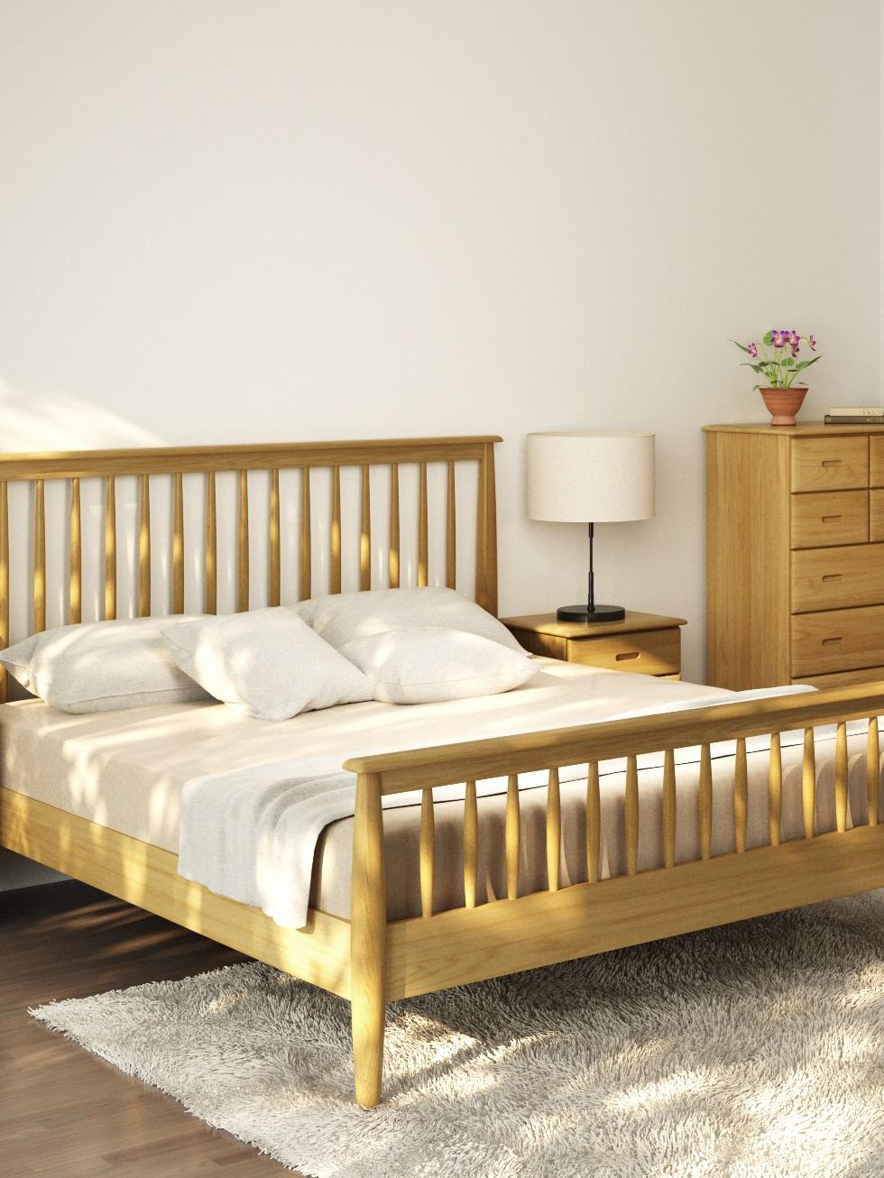 Retro Oak Bedroom | Print
