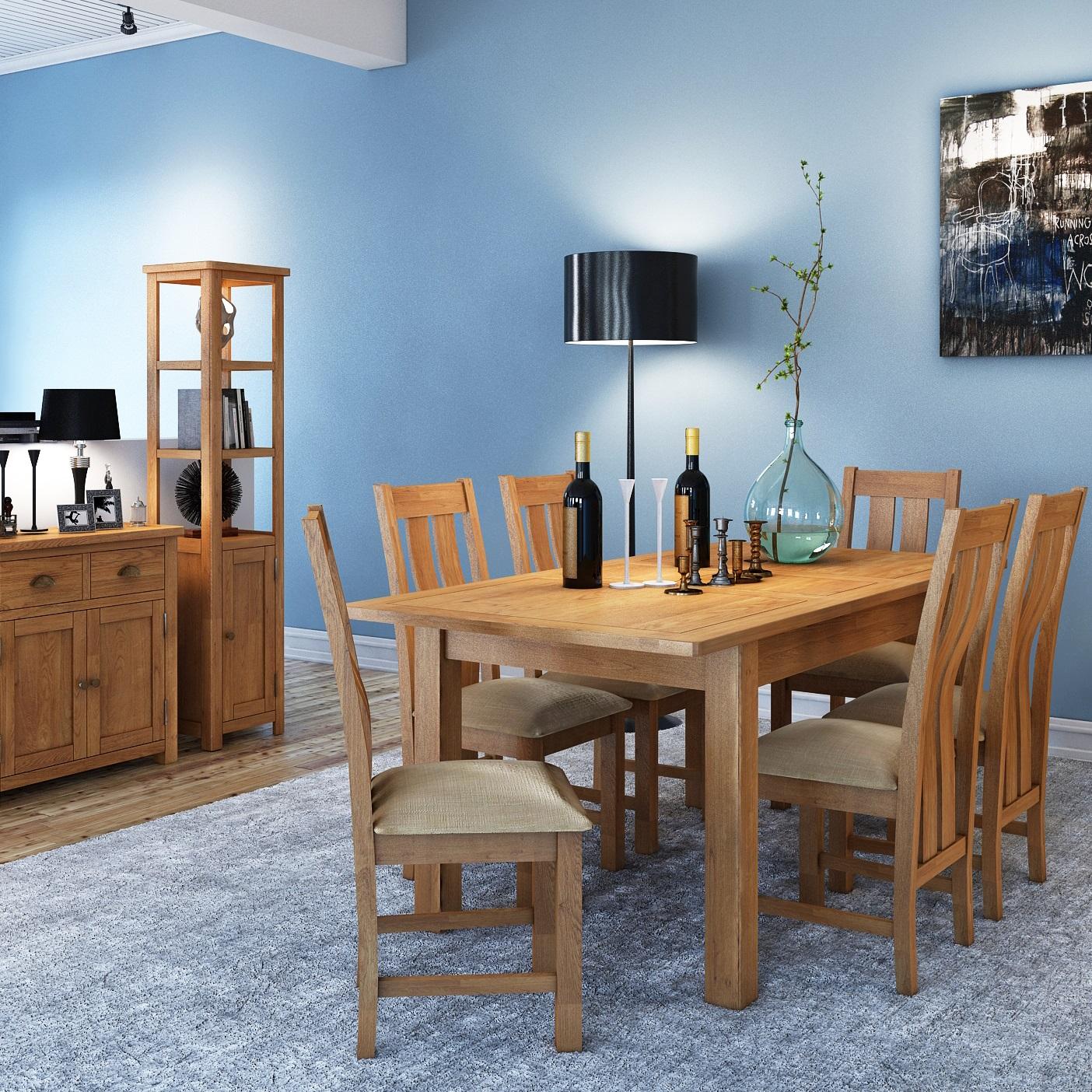 Modern Oak Living-Dining | Print