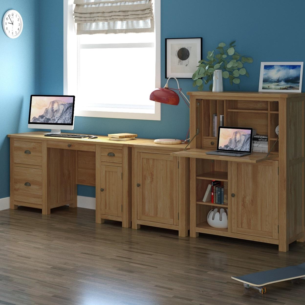 Modern Home Office Oak | Print
