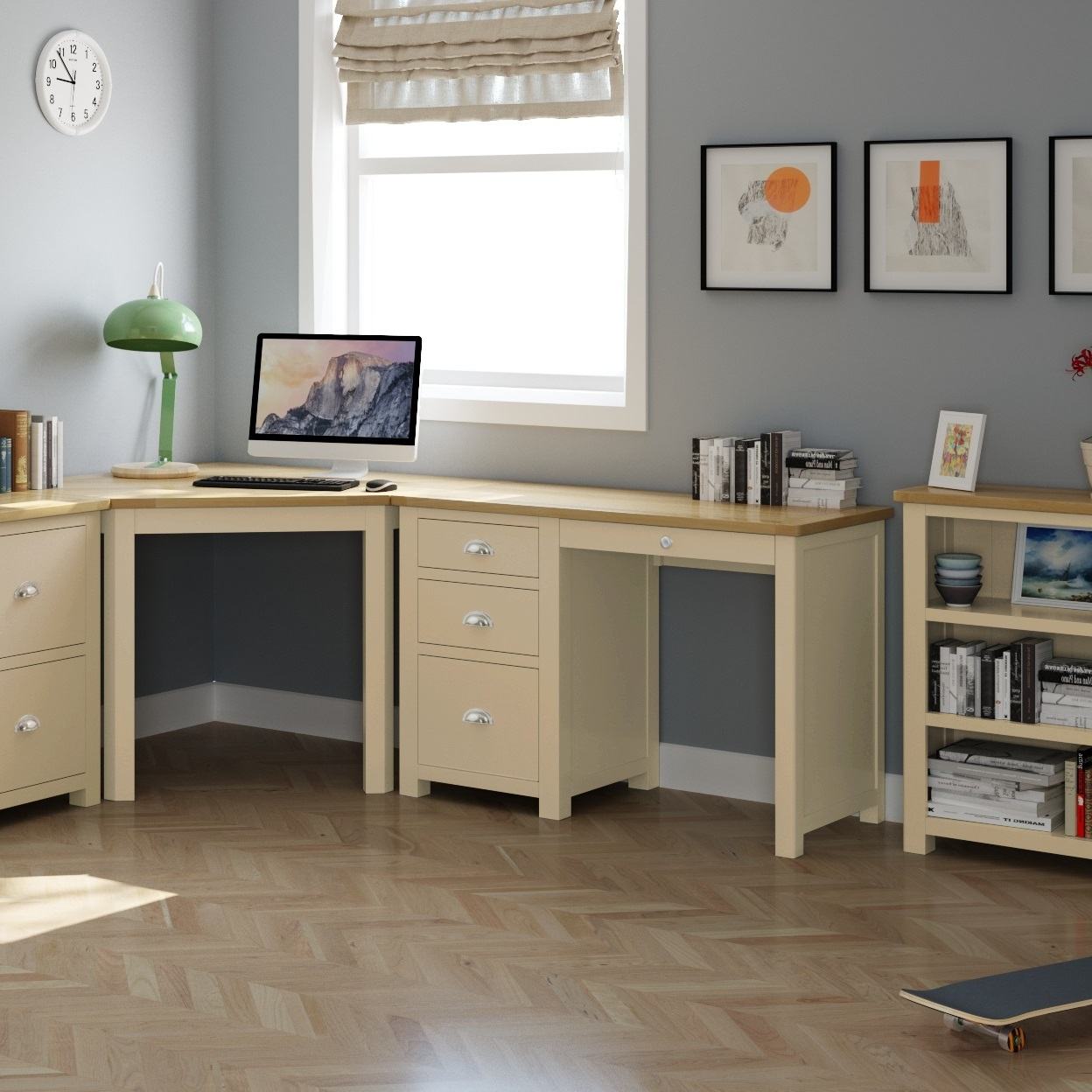Modern Home Office Painted | Print