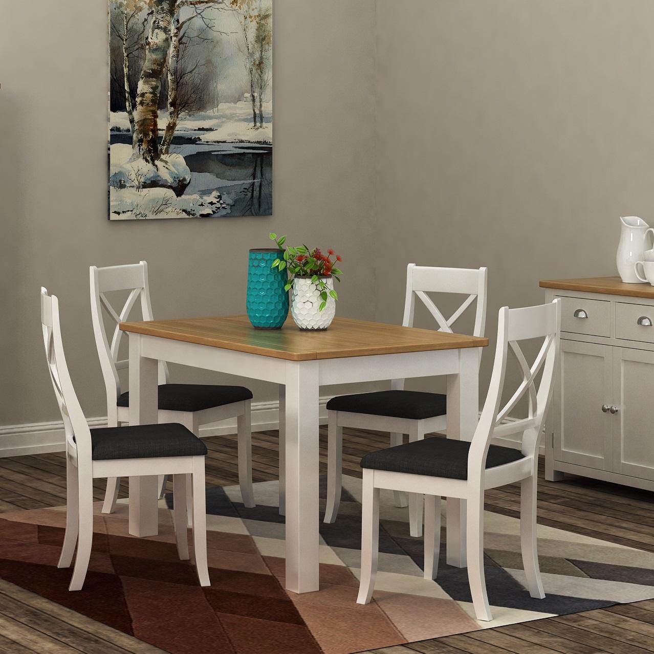 Modern White Living/Dining | Print