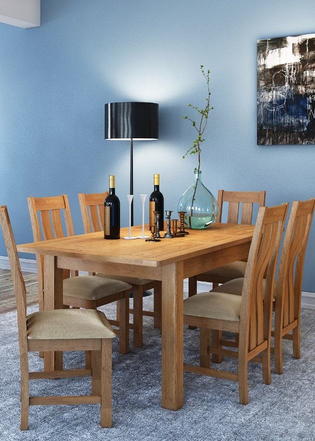Modern Oak Living-Dining | Print