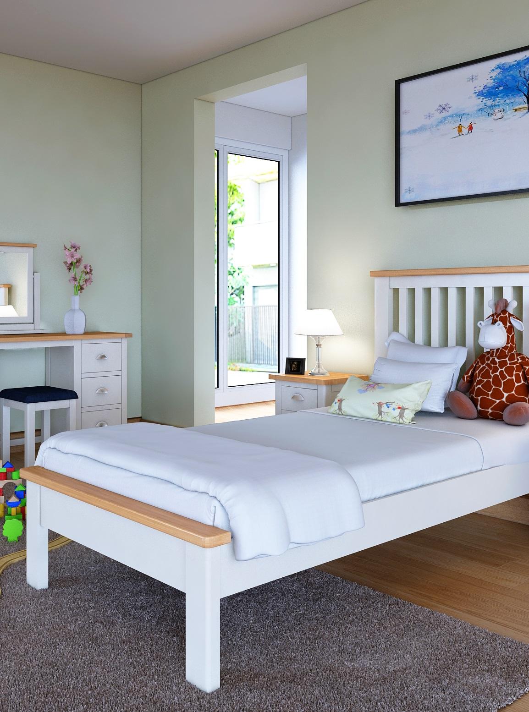 Modern White Bedroom | Print